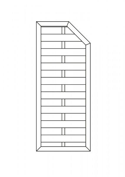 Flechtzaun mit 1 Schräge B = 0,75 x H = 1,80 / 1,50 m