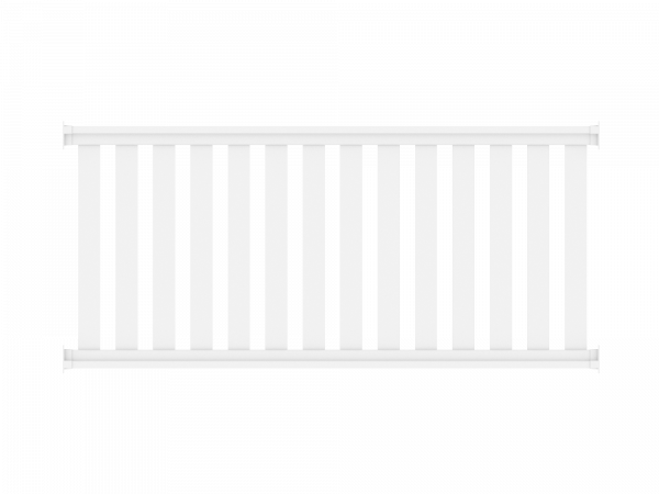 Railing - Zaunelement 2,00 m x 0,90 m, Füllung: 82 x 22 mm, weiß