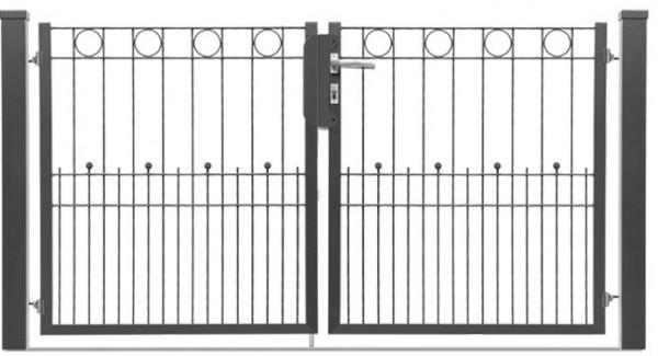 Schmucktor LONDON 2-flgl. H=1,00 m, B=2,02 m RAL7016
