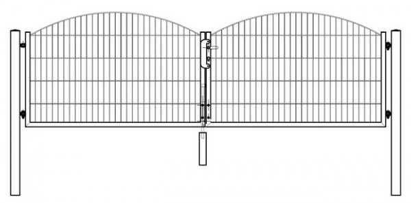 Tor SYDNEY / INNSBRUCK 2-flügelig H=0,80 m LW=3,30 m RAL7016