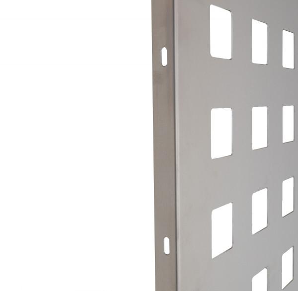 Alu-Schmuckblech B=930 mm H= 1430 mm silber Quadrat