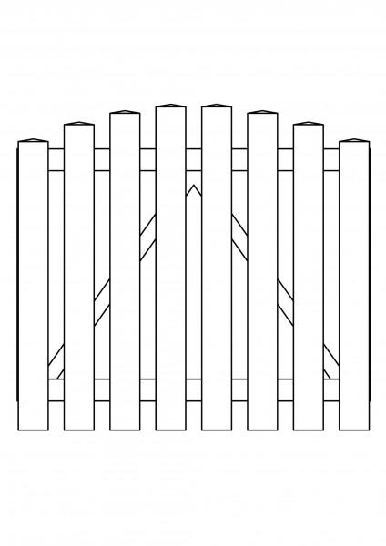 Pforte Bogen oben, B=1,00 m, H=0,80 m, komplett weiß