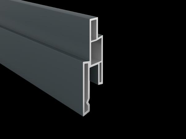 PVC- Nutprofil 25 x 14 mm, 1,76 m lang, verschiedene Dekore