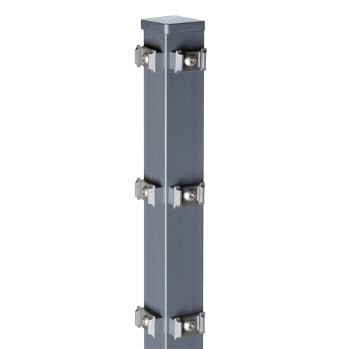 Eckpfosten Typ PM für Zaunhöhe 0,80 m, verzinkt