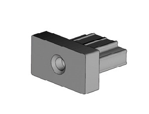 schwarzes KS-Einschlagstück 60/40mm