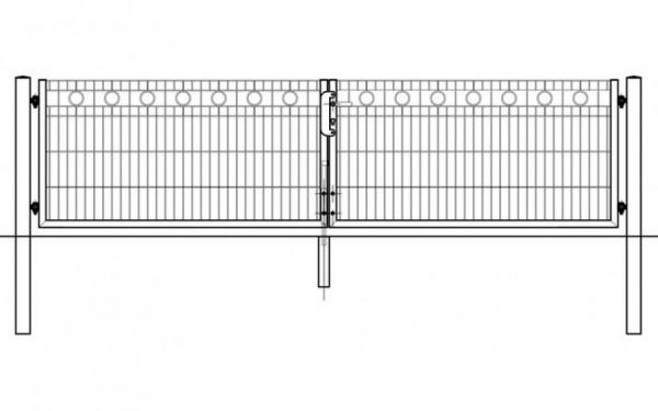 Schmucktor ROM 2-flügelig H=1,00 m, LW=3,30 m RAL6005