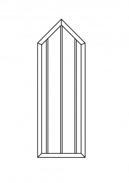 Colourline-Element mit Spitze B = 0,75 x H = 1,80 / 2,175 m