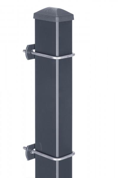 Pfosten Typ U für Zaunhöhe 1,00 m RAL7016