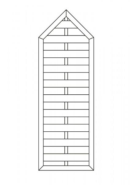 Flechtzaun mit Spitze, B = 0,75 x H = 1,80 / 2,175 m