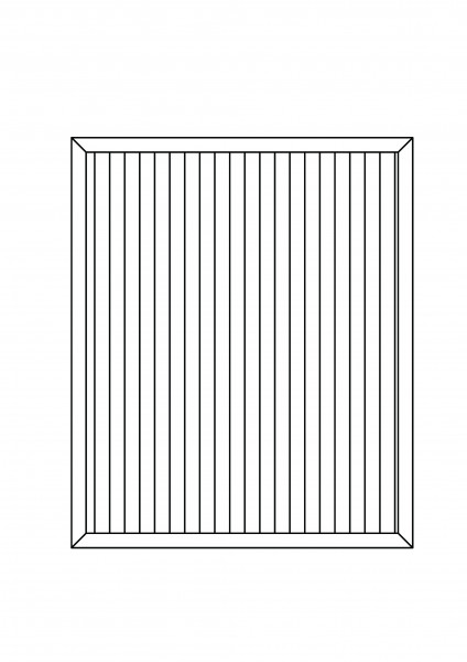 Sichtschutz-Element rechteckig B = 1,50 x H = 1,80 m