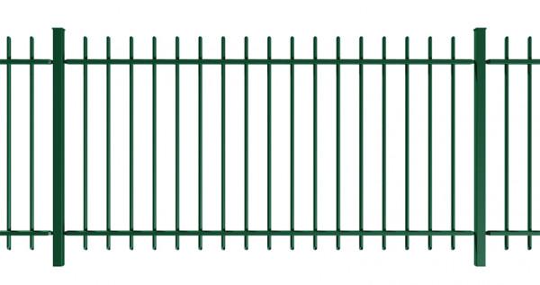 Stabgitter TRAVERSA H = 1,25 m Breite = 2,62 m RAL 6005 moosgrün