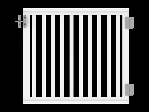 Railing - Zaun-Pforte 1,00 m x 0,90 m, Füllung: 35 x 30 mm, weiß
