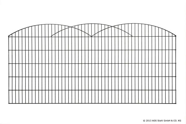 Schmuckzaun INNSBRUCK H= 0,80 m verzinkt