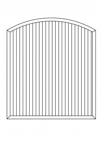 Sichtschutz-Element mit Bogen oben B = 1,80 x H = 1,80/2,05 m