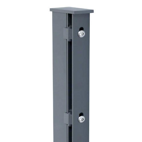 Pfosten Typ A für Zaunhöhe 0,80 m RAL7016