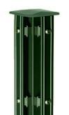 Austausch - Eckpfosten Typ P-fix für Zaunhöhe 0,80 m RAL 6005 zum Standardpfosten