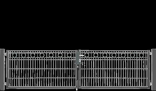 Schmucktor ROM 2-flügelig H=0,80 m, LW=3,30 m RAL6005