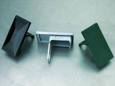 Kunststoffkappe 60/40 mit Überstand Typ A RAL9006 silber