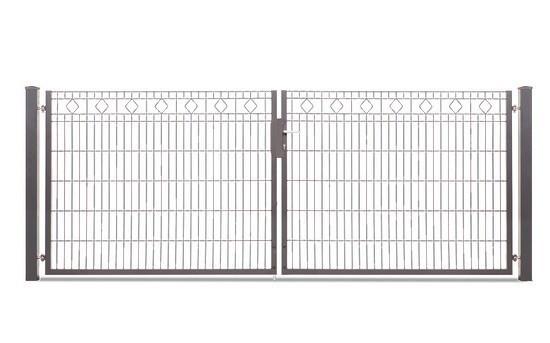 Schmucktor BARCELONA 2-flügelig H=1,20 m, LW=3,30 m RAL7016