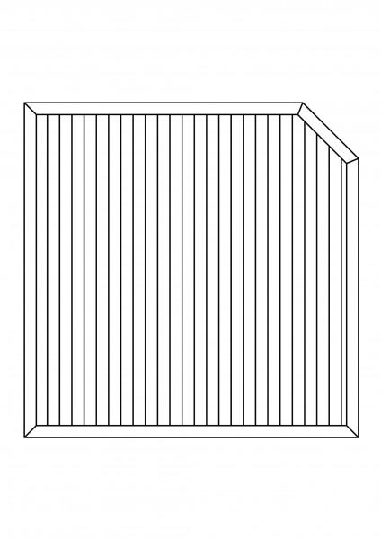 Sichtschutz-Element mit 1 Schräge, B = 1,80 x H = 1,80/150 m