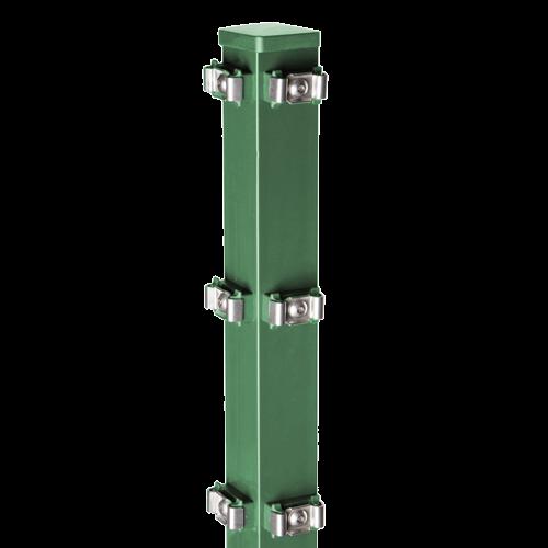 Eckpfosten Typ PM für Zaunhöhe 2,00 m RAL6005