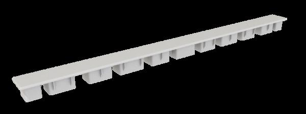Abschlusskappe 500 x 35mm Weiß