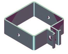 Endschelle für Pfosten 60x60mm RAL 7016 anthrazit
