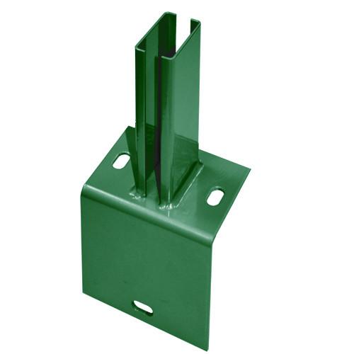 Fußwinkel mit Rohrstutzen für Typ A / PM / U RAL 6005 moosgrün