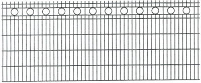 Schmuckzaun ROM H= 0,80 m RAL6005