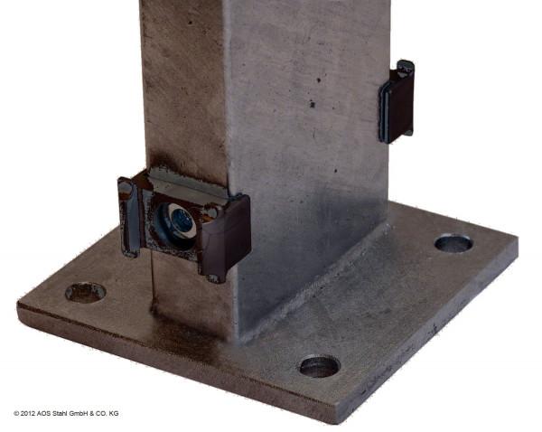 Gabionen-Doppelpfosten für Zaunhöhe 1830mm RAL 7016